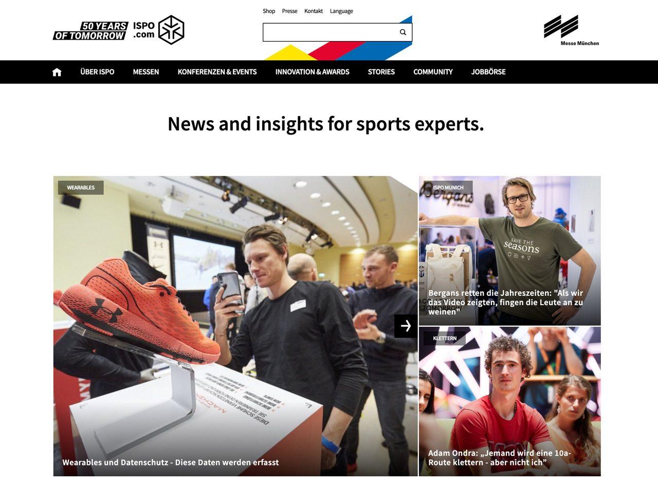 ISPO.com ist eine B2B2C-Informationsplattform rund um den Sport.